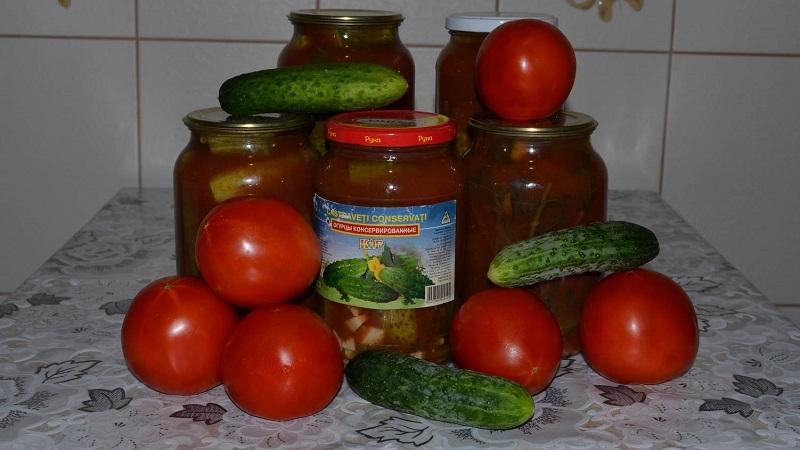 Засолка огурцов в томатном соусе на зиму - рецепты вкусных заготовок